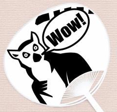 COOL ANIMALシリーズうちわ『ワオキツネザル』   UCW-404