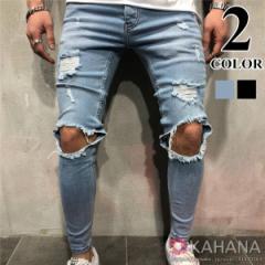 デニムパンツ ダメージジーンズ ジーンズメンズ バイクジーンズ 欧米風 ファッション おしゃれ