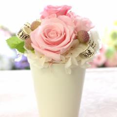 プリザーブドフラワー ラウンド ギフト ポット型 誕生日 結婚式 電報 プレゼント 花 お祝い 贈り物 プリザーブドフラワー母の日 フラワー