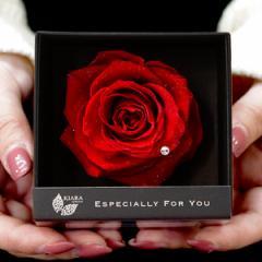 フラワーボックス KIARA エスペシャリーボックス ESPECIALLY BOX バラ ローズ 電報 ギフト プリザーブドフラワー 母の日 贈り物 お祝い