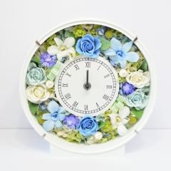 本州送料無料 プリザーブドフラワー 素敵なブルー 花時計 開店祝い 開業祝い 新築祝い 結婚祝い