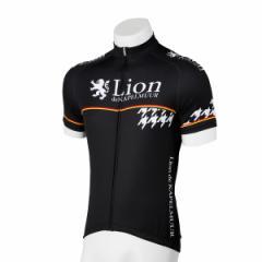 Lion de KAPELMUUR リオン・ド・カペルミュール 半袖ジャージ 千鳥チップブラック lihs008