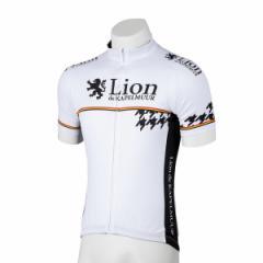 Lion de KAPELMUUR リオン・ド・カペルミュール 半袖ジャージ 千鳥チップホワイト lihs009