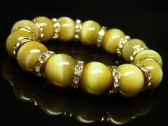才能を開花させるパワーストーン ゴールデンタイガーアイブレスレット 14ミリ天然石数珠