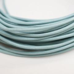 本革 丸紐 1.5mm スカイブルー 1M単位の切り売り 皮ひも 水色 青 革紐 皮紐 革ひも レザーコード