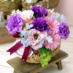花とセット 母の日 ムーンダスト アレンジメント ライラックネイチャー