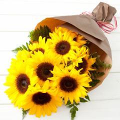 ●送料無料●サンフラワーブーケ(お誕生日用・ひまわりギフト花束【HLS_DU】webflora