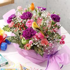 花とセット 母の日 ムーンダスト アレンジメント