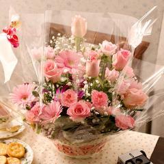 花とセット 母の日 ピンクローズ アレンジメント