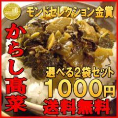 からし高菜(辛子高菜)250gx2袋  送料無料  お試しセット 激辛 高菜漬け ご飯のお供  国産    漬け物 【メール便】
