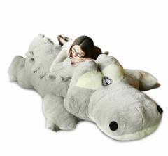 ワニ 鰐 ぬいぐるみ 特大 2色 230cm 大きい可愛いわに抱き枕プレゼントふわふわぬいぐるみ