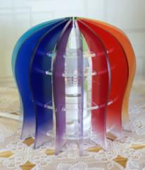 イルミネーションランプシェードアクリル ドーム型虹色 16色変色ランプ・ソケット付き 据え置きタイプ
