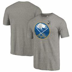 お取り寄せ NHL セイバーズ 2018 ウィンター・クラシック ヴィンテージ トライブレンド Tシャツ 半袖 グレー