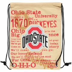 お取り寄せ NCAA オハイオ州立大学 バックアイズ ヒストリック キャンバス ドローストリング バックパック/リュック