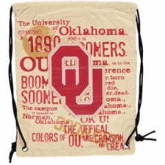 お取り寄せ NCAA オクラホマ大学 スーナーズ ヒストリック キャンバス ドローストリング バックパック/リュック