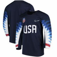 お取り寄せ アイスホッケー USA代表 2018 冬季オリンピック レプリカ ユニフォーム/ユニホーム ナイキ/Nike ネイビー