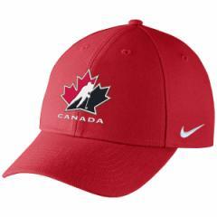 お取り寄せ アイスホッケー カナダ代表 2018 冬季オリンピック ストラクチャード アジャスタブル キャップ/帽子 ナイキ/Nike レッド