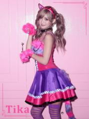 コスプレ 衣装 4set チェシャ猫風コスチュームセット アニマル キャラクター ハロウィン 猫 コスプレ 大人