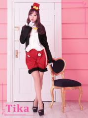 Tika ティカ 5点set ディズニーキャラクター クラシカルミッキーコスチュームセット  ハロウィン コスプレ 仮装