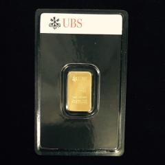 純金 インゴット 5g スイスUBS銀行 金の国際公式ブランド 24金 グッドデリバリーバー ゴールドバー 送料無料