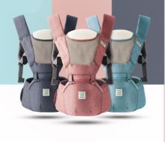 ベビー抱っこ紐 ヒップシート付き 対象月齢0ヶ月〜48ヶ月 ヨコ抱っこ/対面抱っこ/前向き抱き/おんぶ/腰抱っこ 手洗い可能  通気性良く