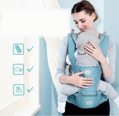 子守帯 おんぶ 抱っこ紐 ヒップシート付き 対象月齢3ヶ月〜48ヶ月 ヨコ抱っこ/対面抱っこ/前向き抱き/おんぶ/腰抱っこ 手洗い可能