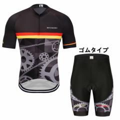 送料無料 サイクルウェア メンズサイクルジャージ 上下セット 半袖 サイクリングウェア 自転車ウエア 通気 大きいサイズ 夏用