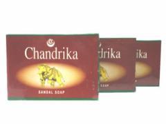チャンドリカ サンダル ソープ CHANDRIKA SANDAL SOAP 75g 3個セット[INDIACOS]