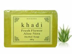 カーディ フレッシュフラワー2 ハーバルソープ Khadi Fresh Flower Aloe-Vera Herbal Soap