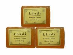 カーディ レモングラス ハーバルソープ 3個Set Khadi Lemon Grass Herbal Soap
