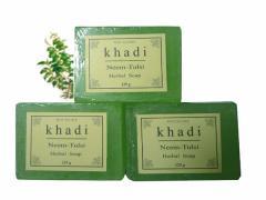 カーディ ニーム&トゥルシー ソープ3個Set Khadi Neem-Tulsi Soap
