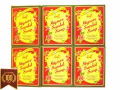 高純度白檀油配合 mysore マイソール サンダルソープ 125g 6個セット