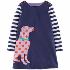 キッズワンピース 犬プリント ヨーロッパ向けデザイン高級子供服ブランド W.L. Monsoon