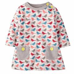 キッズワンピース 鳥プリント ヨーロッパ向けデザイン高級子供服ブランド W.L. Monsoon