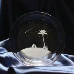 猫モチーフのガラス小皿 【南の島の流れ星】 ねこ ガラス 皿 誕生日 記念日 プレゼント ハンドメイド