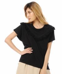 DURAS フリンジTシャツ D1720001