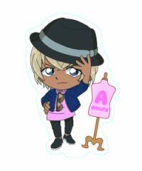 名探偵コナン 名探偵コナン×東京ガールズコレクション ステッカー(安室透/ハット) 4515142284011