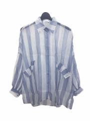 SPIGA ストライプ柄エアリーシャツ CDY1803-002