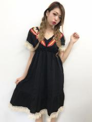 【SALE】 SPIGA カラー刺繍入りアース調OP CDY1806-007