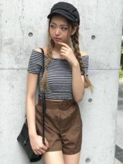 【SALE】 SPIGA くるみベルト付ショートパンツ SDY1806-024