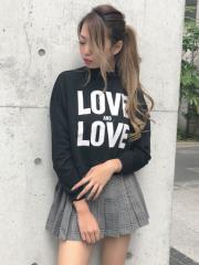 SPIGA クロップド丈LOVEトレーナー SDY1807-113