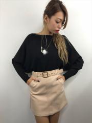 SPIGA ベルト付きミニスカート SDY1808-049
