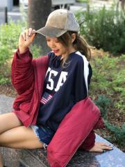 SPIGA USA袖ラインロングTシャツ SDY1808-054