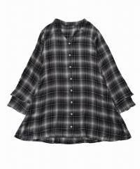 SURIPSIA フリル袖チェックシャツ 843100