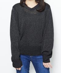 WEGO バルーンスリーブVネックセーター BR18SP01-L055