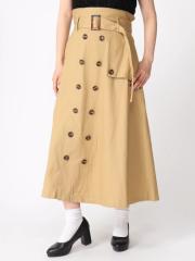 WEGO トレンチロングスカート BR18SM06-L020