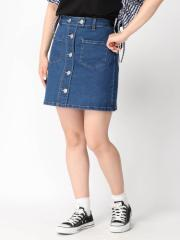 WEGO ボタンアップタイトミニスカート BS18SM06-L016