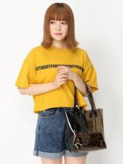 【SALE】 WEGO ファーポーチ付クリアロゴトート BR18AU08-LG0046