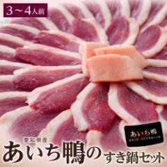 愛知県産 あいち鴨鍋セット 3〜4人前(鴨胸肉70g×4P、つくね10個、ガラミンチ500g、鍋専用タレ200g、おまけで鴨脂)冷凍同梱可能