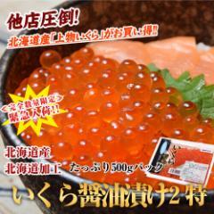 いくら イクラ 鮭 秋鮭 北海道産 北海道加工 いくら醤油漬け 2特 大盛 500g 年末年始 冷凍
